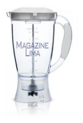 copo liquidificador dellar gourmet cristal com tampa