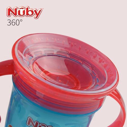 copo mágico 360º antivazamento sem sujeiras verde - nûby