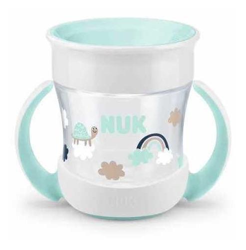 copo mini magic cup 360° com alça evolution verde 160ml nuk