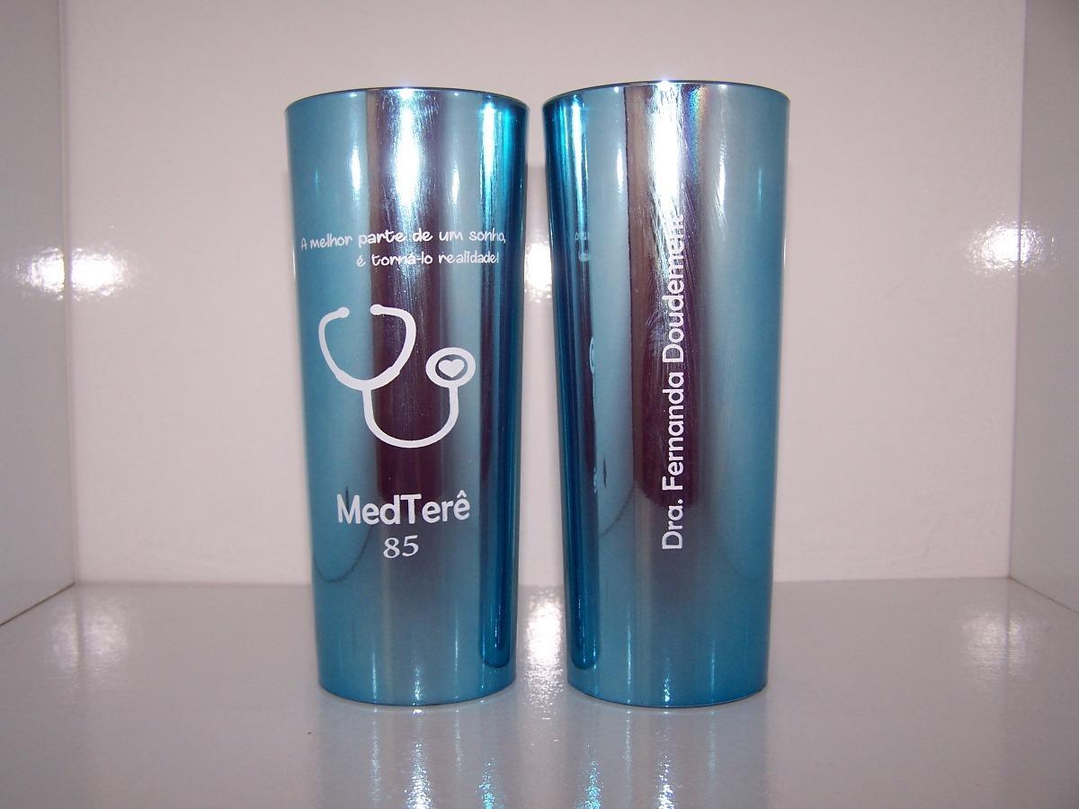 a105c9dd1 copo personalizado azul metalizado-70 unid-frente e verso. Carregando zoom.