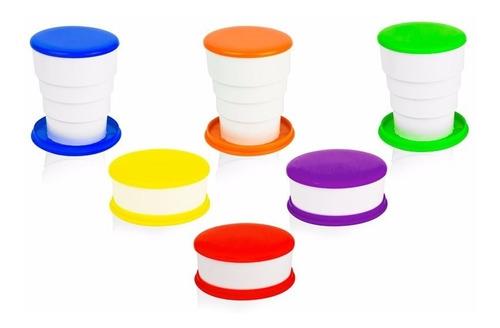 copo sanfonado retrátil cores sortidas - pacote 174 unidades