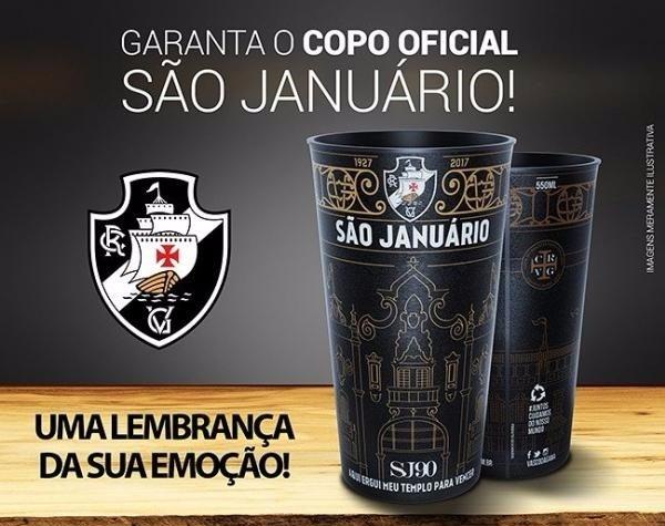 Copo São Januário 90 Anos - Vasco Da Gama - Frete Grátis - R  38 208a619384234