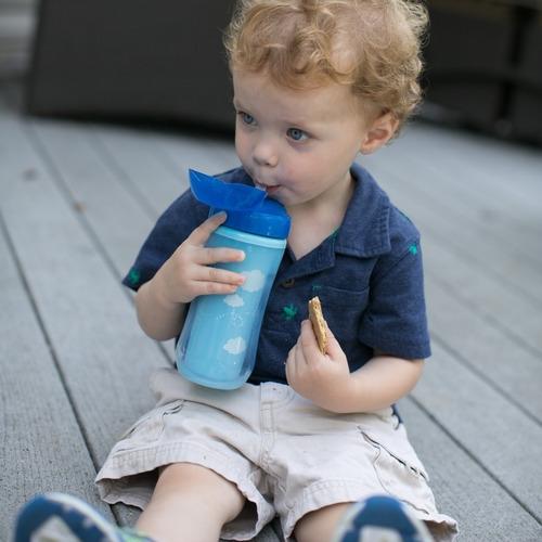 copo térmico com canudo e tampa 300ml (12m+)- azul-dr browns