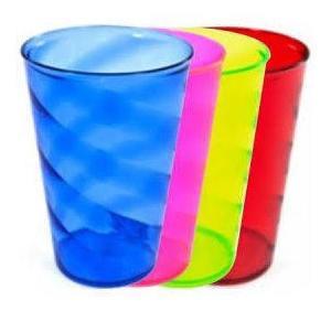 copos de acrílico diversas cores