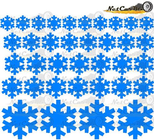 copos de nieve 36-48 vinilos decorativos navideños planilla