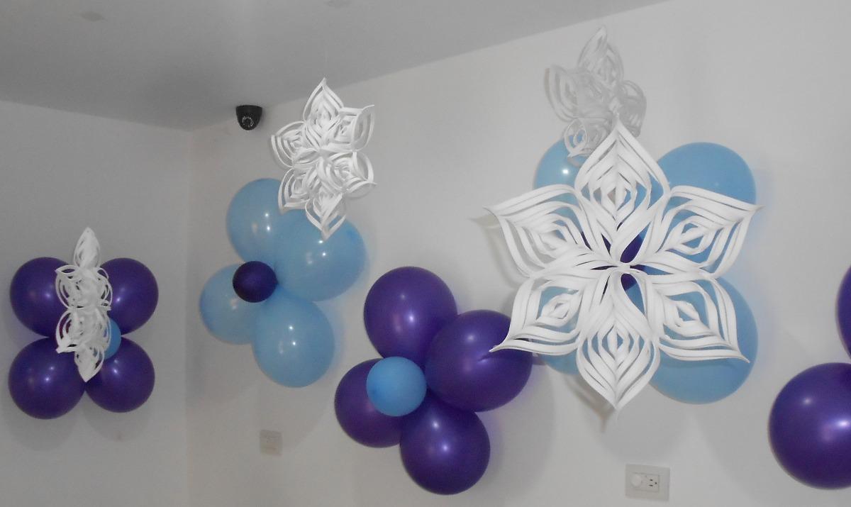 Copos De Nieve Para Decorar Fiesta Frozen.Copos De Nieve 3d Para Decorar Fiestas De Frozen O Navidad