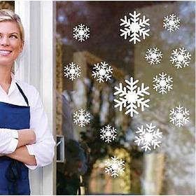 Copos De Nieve 60 Vinilos Decorativos Navideños Para Ventanas Puertas Muros Y Superficies Lisas Varios Modelos A Elegir