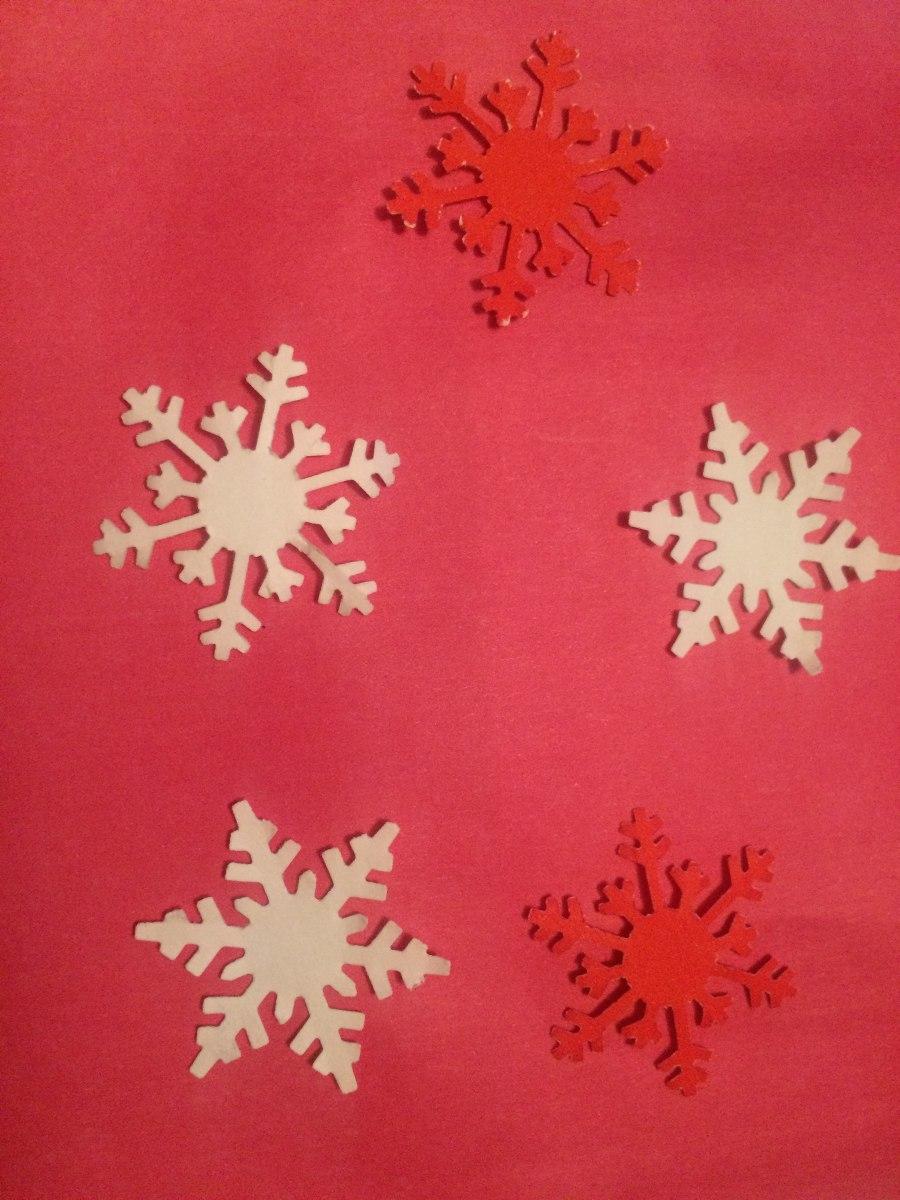 Estrellas de nieve beautiful puedes usarlo para hacer for Estrella de nieve