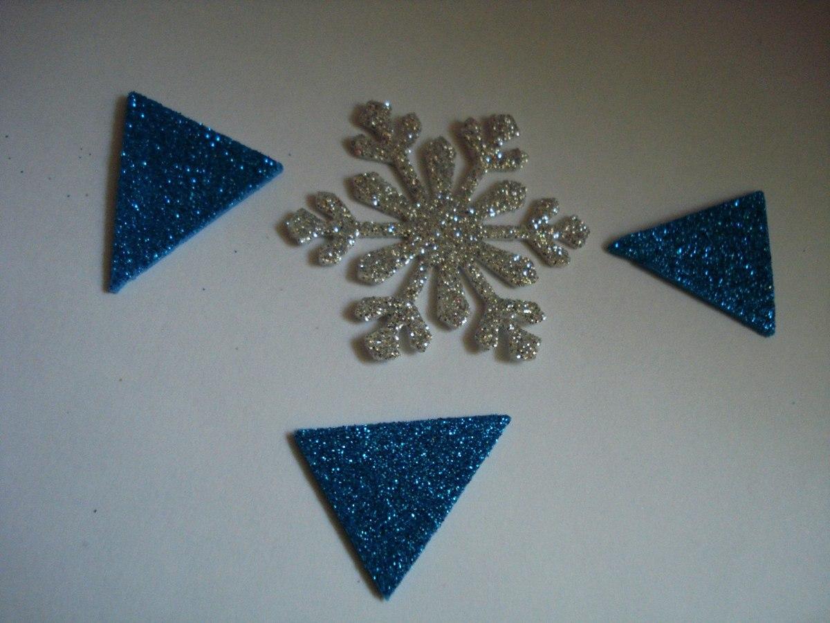 Copos De Nieve Frozen Troquelados En Papel Y Goma Eva 15000 En