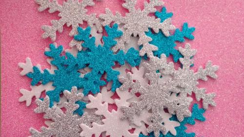 copos de nieve frozen x30u 7,5 cm 3 colores almagro ¡precio!