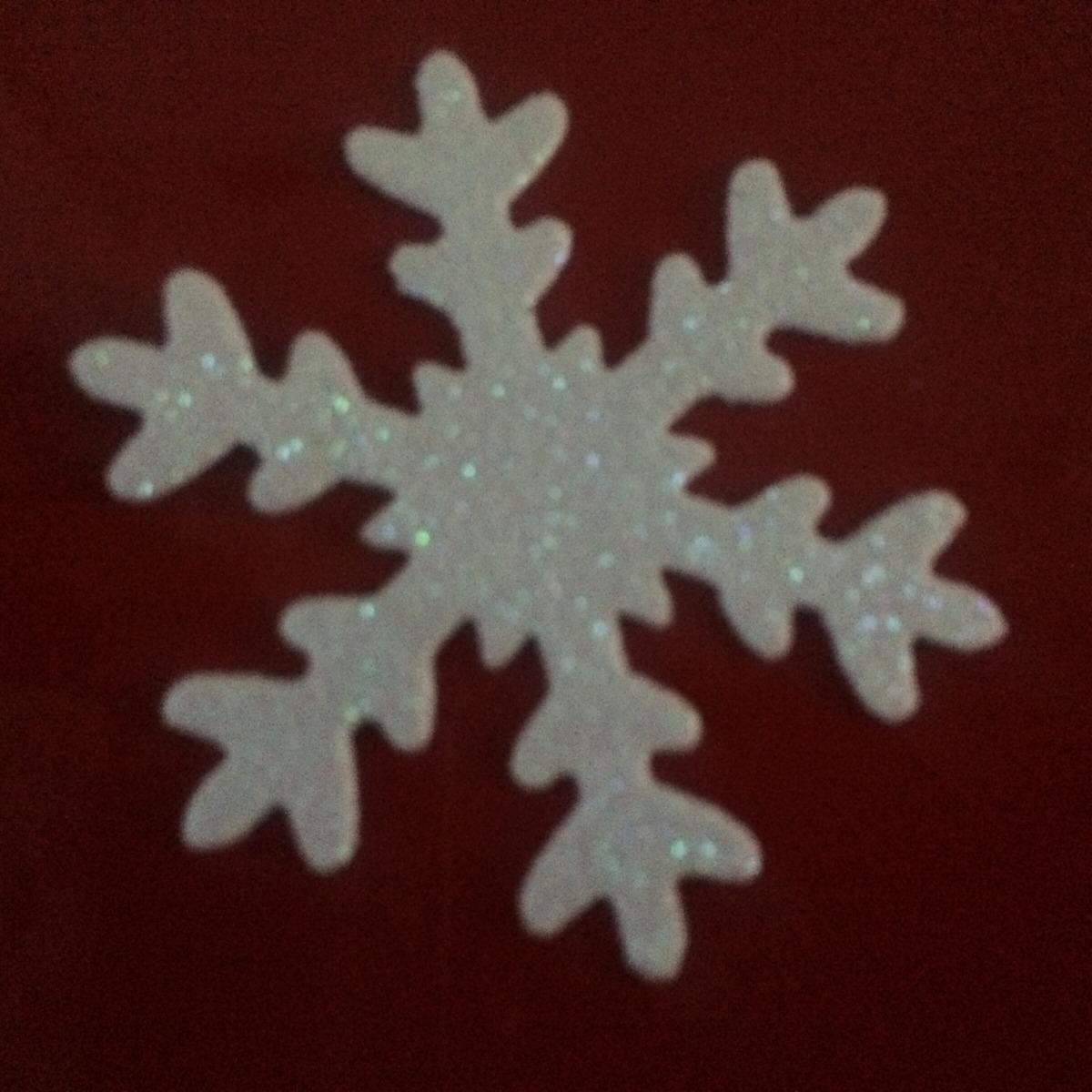 Copos De Nieve Goma Eva Glitter Adhesivos 19000 En Mercado Libre