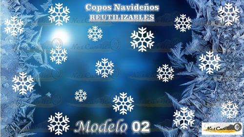 copos de nieve navideños decorativos 100 pzas reutilizables envio gratis ventanas aparadores vitrinas puertas de cristal