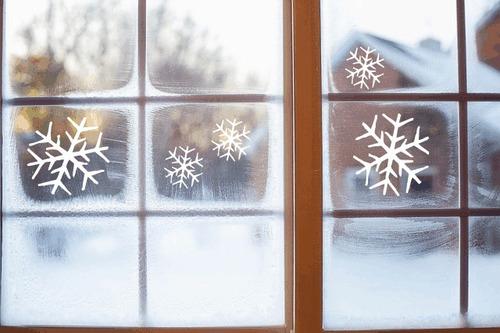 copos de nieve vinilo decorativo escaparate