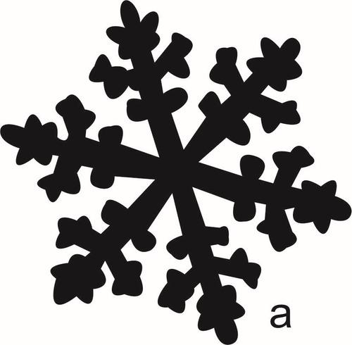 copos de nieve vinilo decorativo navideño 10 pza de 5 x 5cm
