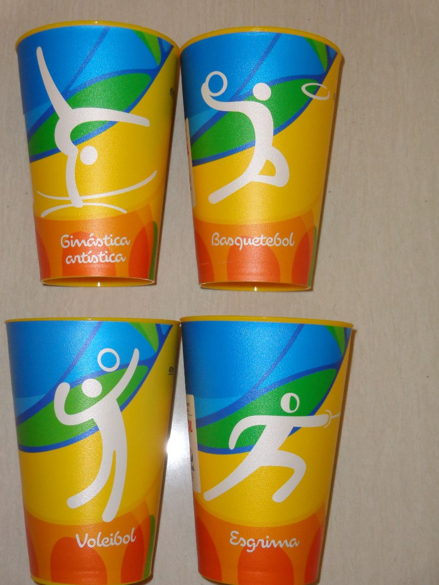 132cec4675 copos jogos olímpicos rio 2016 esportes - capacidade 473ml. Carregando zoom.