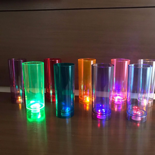 copos long drink neon 350ml  com led