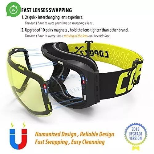 6d391f479 Copozz G2 Óculos De Esqui Para Neve, Snowboard E Snowmobile - R$ 250 ...