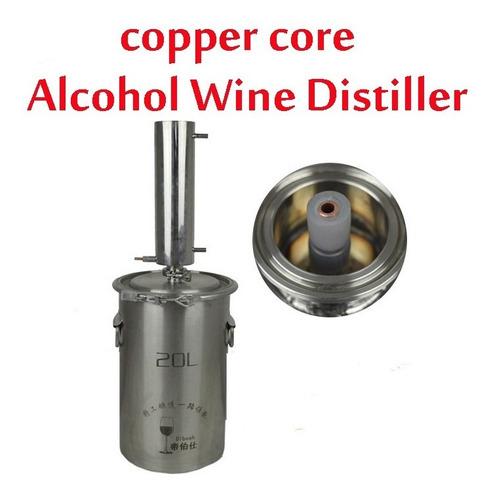 copper core alcohol w-ine distiller moonshine still brandy w