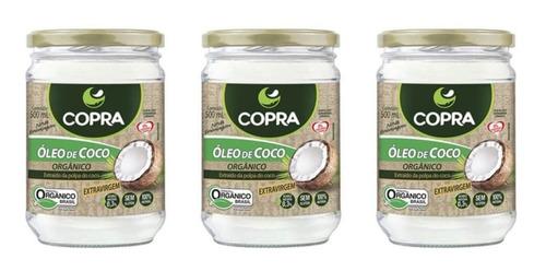 copra extra virgem orgânico 500ml (kit c/03)