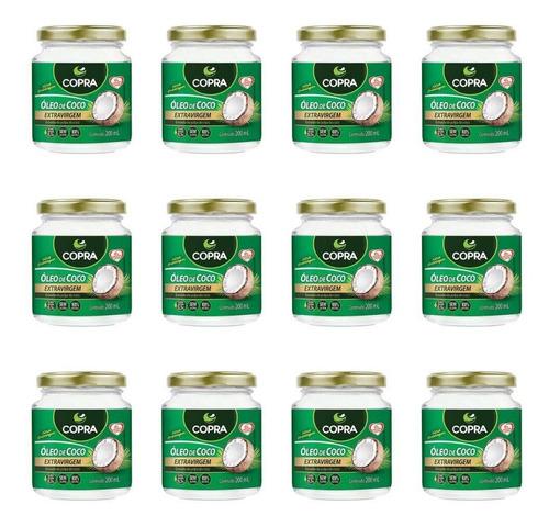 copra óleo de coco extra virgem 200ml (kit c/12)