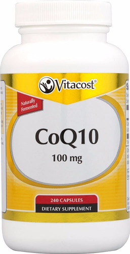 coq10 240 capsulas de 100mg ubiquinona fermentada natural
