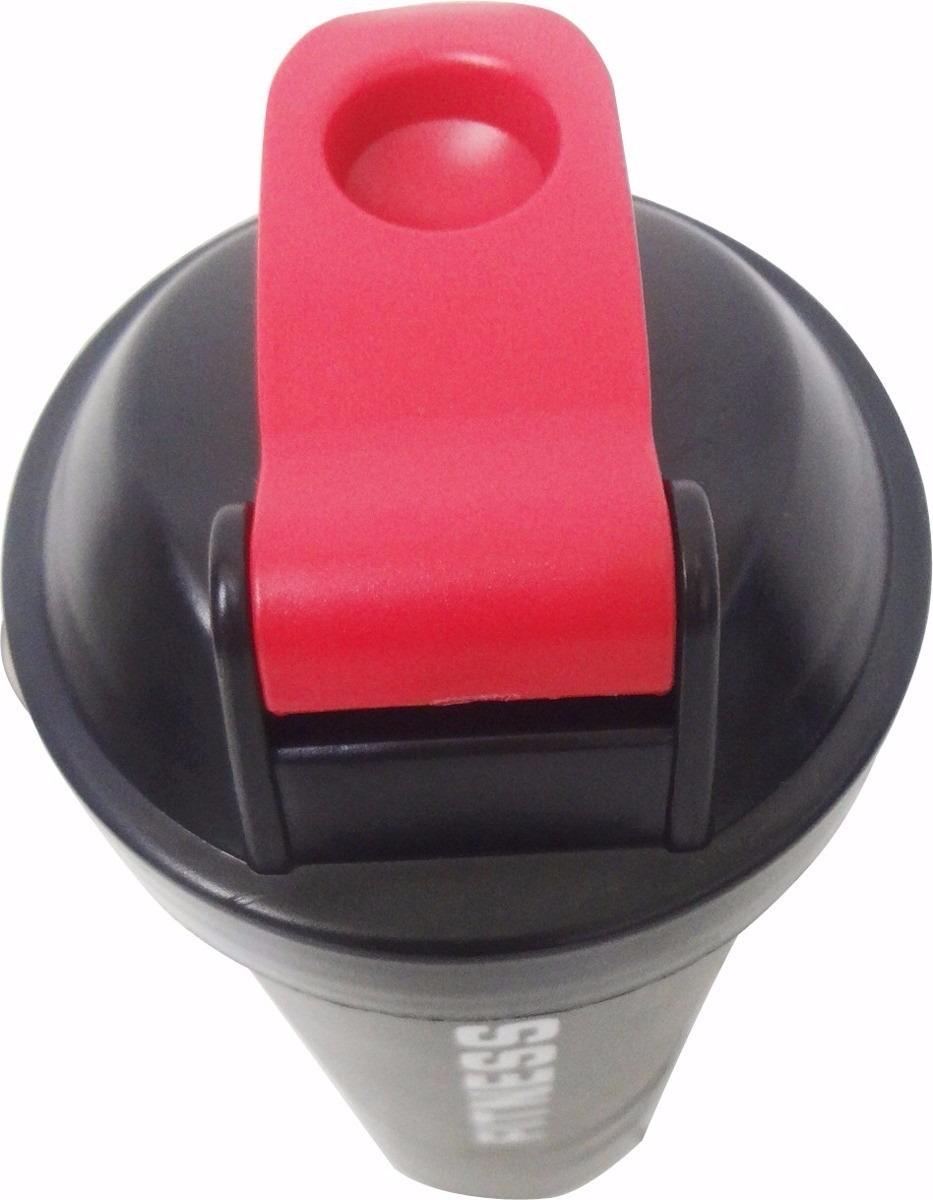 9a13484a2 coqueteleira academia garrafa shaker fitness com mola 600ml. Carregando  zoom.
