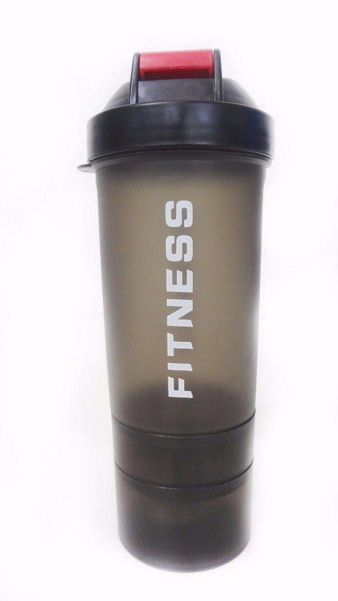 2afbc1089 Coqueteleira Academia Garrafa Shaker Fitness Com Mola 600ml - R  29 ...