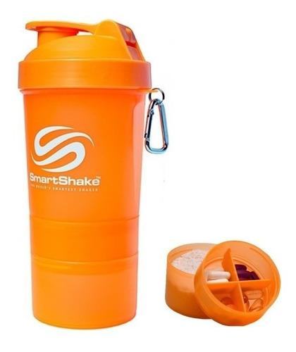 coqueteleira smartshake v2neon orange laranja 600ml original