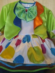 Coqueto Disfraz Payasita 2 Vestidos En 1 Con Accesorios Pyf
