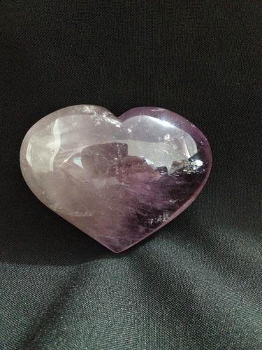 coração de cristal de quartzo ametista promoção