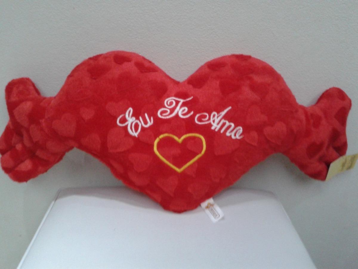 Coração De Pelúcia Dia Dos Namorados Frase Eu Te Amo R 7490 Em