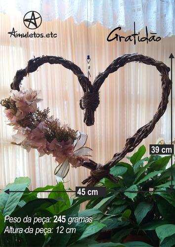 coração floral gratidão