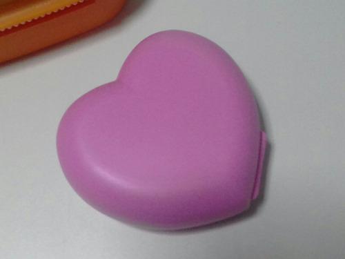 coração porta treco, bonbons etc namorad import. tupperware