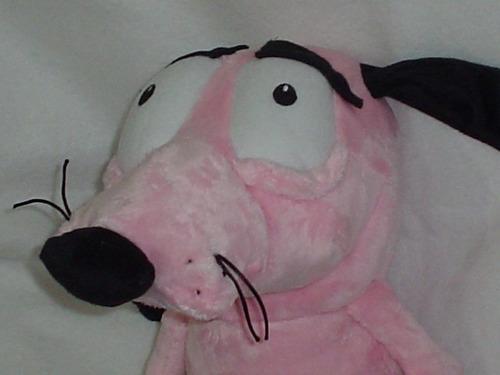 coraje el perro valiente de 42cms superdetallado y suavecito
