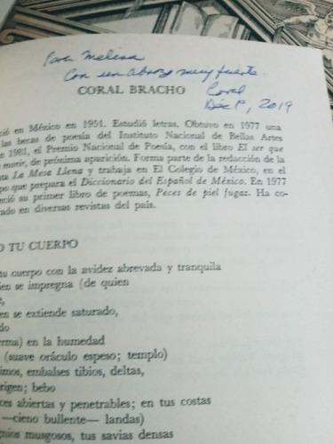 coral bracho. antología del festival de morelia. firmado, u