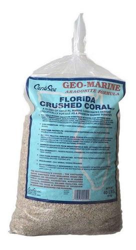 coral triturado aragonita acuarios pecera marino 40 libras