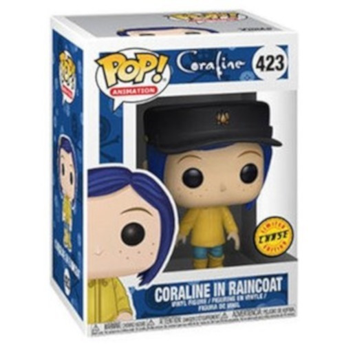 coraline in raincoat chase funko pop coraline película