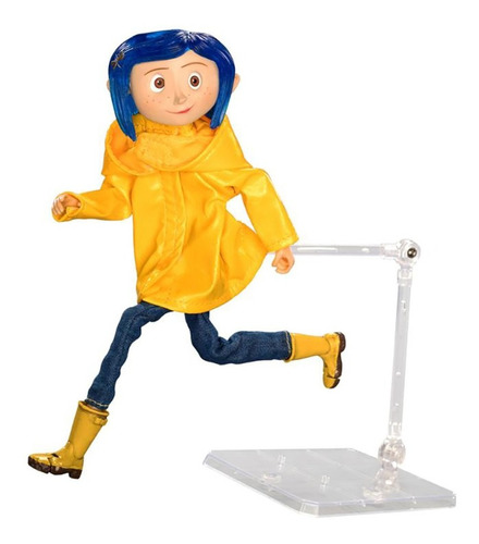 coraline raincoat articulated figura n.e.c.a. neca