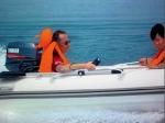 coralsea hsr 270 semirrigido embarcación aluminio bote ap