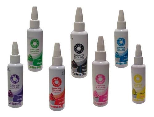 corantes soft gel mago 7 cores - hiperconcentrado