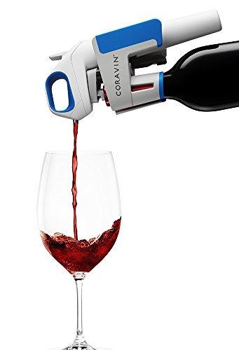 coravin un sistema de vino, azul cobalto / blanco / gris