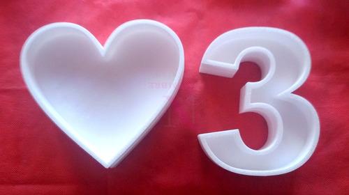 corazón 20 cm figuras huecas polyfan centro mesa candy