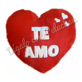 Corazón Almohadón De Peluche Personalizado Grande Te Amo