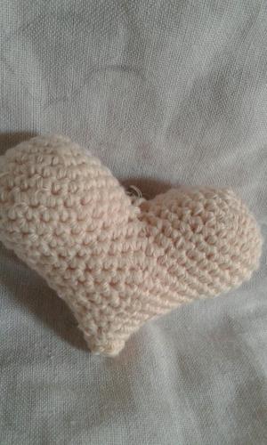 corazon amigurumi llavero souvenirs