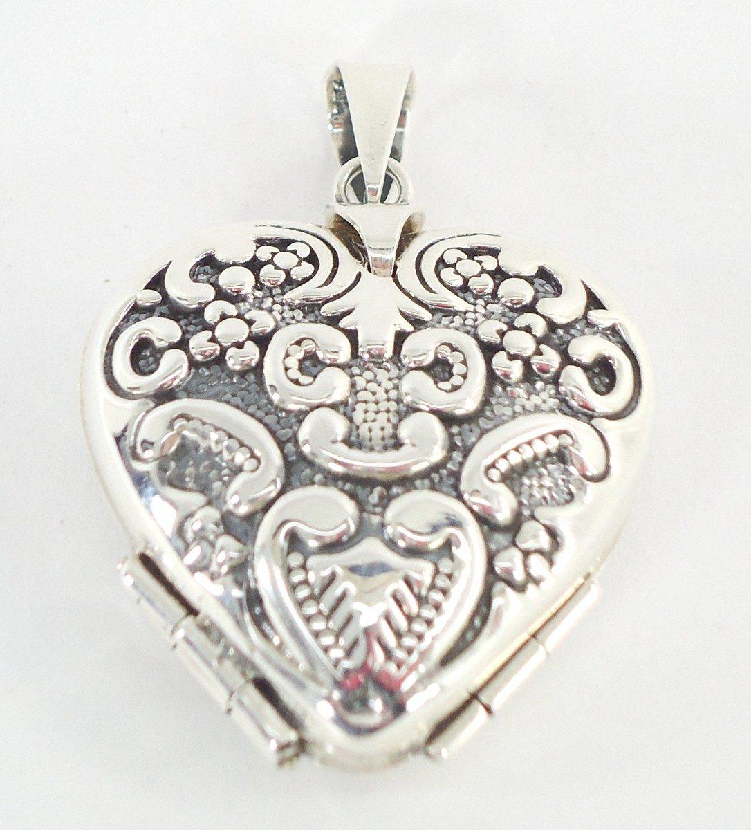 corazón antiguo dije de plata relicario guardapelo ley.925. Cargando zoom. a38cd9a6969
