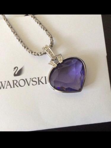 corazon azul swarovski