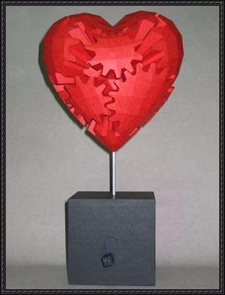 Corazón Con Movimiento Papercraft 5000 En Mercado Libre