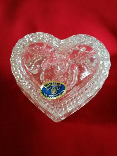 corazon cristal de bohemia