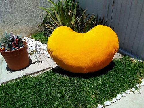 corazon de peluche amarillo 1 metro