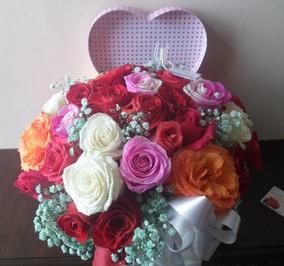 Corazón De Rosas Arreglo Floral La Florería A Domicilio
